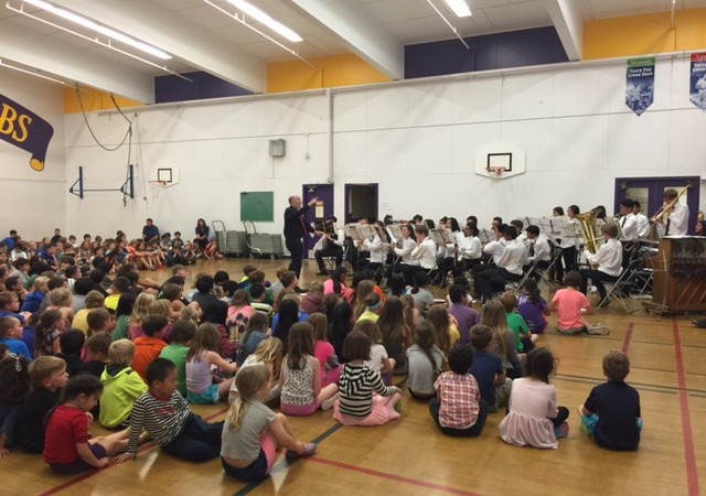 Johnston Heights Secondary School Band Visits Frank Hobbs