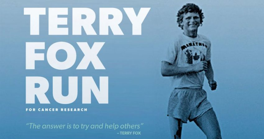Terry Fox Run – Monday, October 2nd @ 1:00 pm
