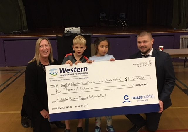 Thank you to Western Communities Foundation for the Donation of $5,000.00 towards our new Playground